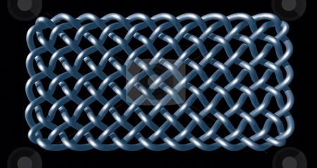 Celtic stock photo, Celtic knots design on black background - 3d illustration by J?