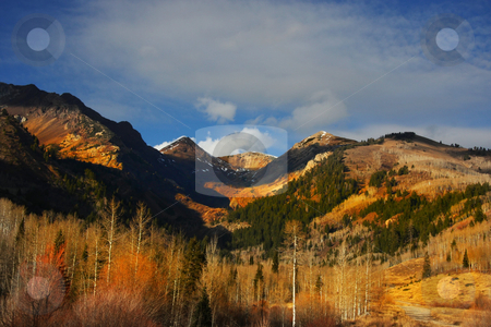 Fall stock photo, Rocky mountains in the late fall by Mark Smith