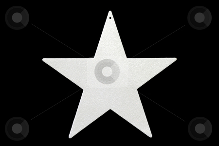 Chrismas star stock photo, Decorative chrismas star isolated on black background by Birgit Reitz-Hofmann