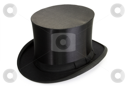 Chapeau Claque stock photo, Black Chapeau claque isolated on white background by Birgit Reitz-Hofmann