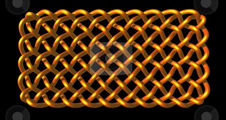 Celtic knots stock photo, Celtic knots design on black background - 3d illustration by J?