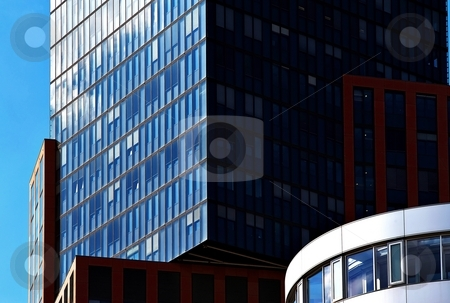 Modern architecture office buildings stock photo, Modern architecture office buildings in sunny light by Juraj Kovacik