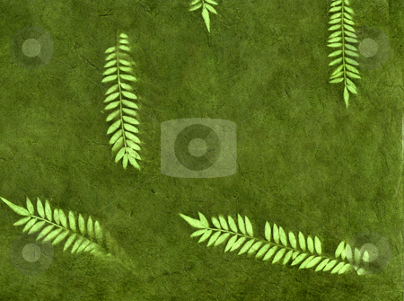 Forest Leaves stock photo, Vintage organic handmade wallpaper background by Christian Slanec