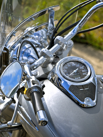 Bike  stock photo, Head part of biker motorcycle by Sergej Razvodovskij