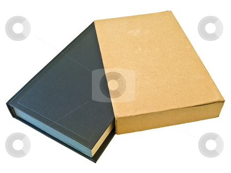 Book  stock photo, Isolated single book with cover against the white background by Sergej Razvodovskij