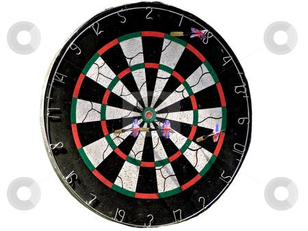 Darts stock photo, Isolated darts board against the white background by Sergej Razvodovskij