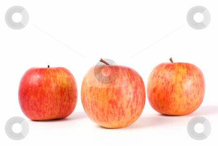 Isolated fresh apple stock photo, Isolated fresh apple with white background by Lawren