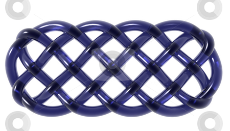 Celtic stock photo, Celtic knots ornament on white background - 3d illustration by J?