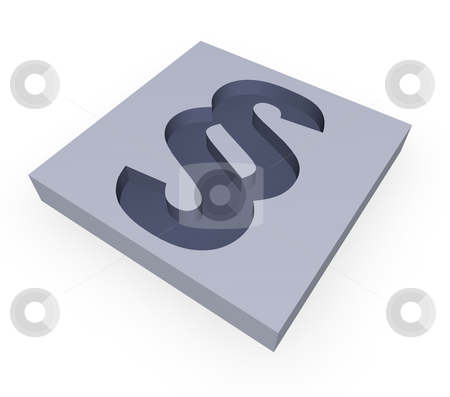 Justice stock photo, Paragraph symbol in a block - 3d illustration by J?