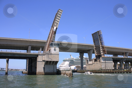 Bridge in the Bay of Biscayne stock photo, Image of a drawbridge at one of the roads that connect the islands in Biscayne Bay in Miami, Florida by Carlos Melillo