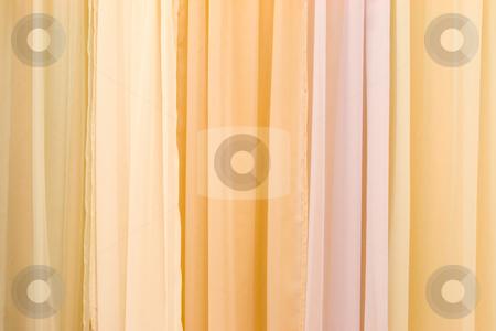 Multicolor Stage Curtain stock photo, Beautiful multicolor velvet stage curtain by Hieng Ling Tie