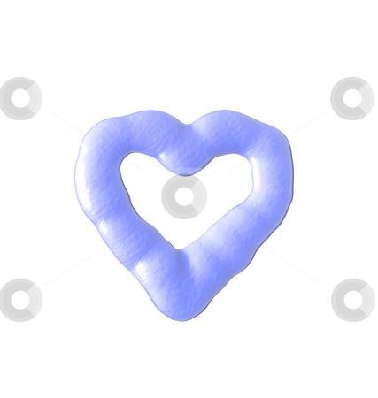 Heart stock photo, Liquid heart on white background - 3d illustration by J?