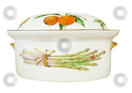 China Oven Dish stock photo, China Oven Dish isolated with clipping path. by Margo Harrison