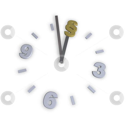 Law stock photo, Clock with paragraph symbol - 3d illustration by J?