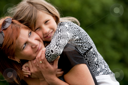 My sweet little girl stock photo, Mother and Daughter are happy in the park by Frenk and Danielle Kaufmann