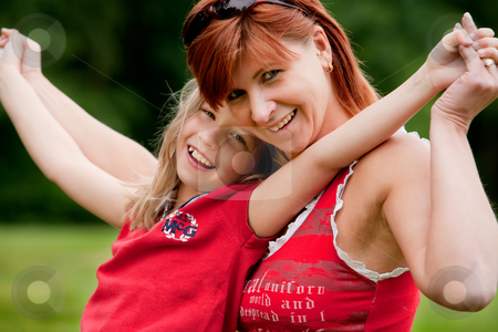We are so happy stock photo, Mother and Daughter are happy in the park by Frenk and Danielle Kaufmann