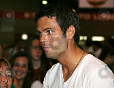 Chuck Wicks - CMA Music Festival 2009 stock photo, Chuck Wicks at the CMA Festival 2009 in Nashville, Tennessee signing autographs by Dennis Crumrin