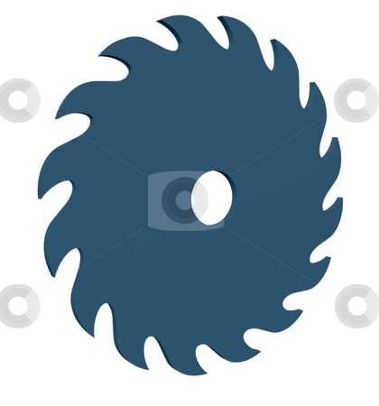 Saw blade stock photo, Saw blade on white background - 3d illustration by J?