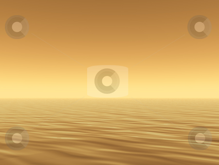 Sea stock photo, Sunny water landscape - 3d illustration by J?