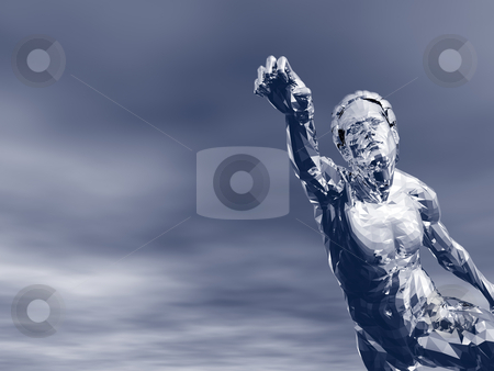 Statue stock photo, Abstract man figure - 3d illustration by J?