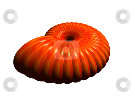 Spiral thing stock photo, Abstract spiral thing in red on white background - 3d illustration by J?
