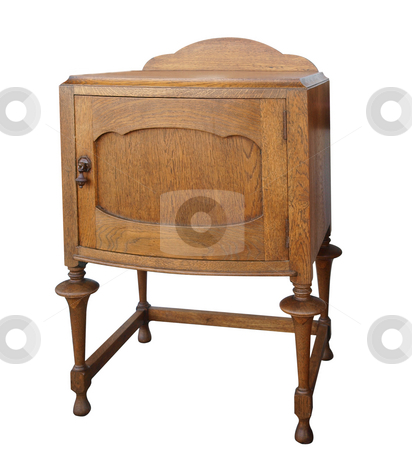 Antique Wooden Cabinet stock photo, Antique Wooden Cabinet isolated with clipping path. by Margo Harrison