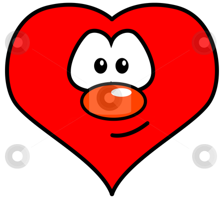 Heart stock photo, Heart with comic face by J?