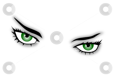 Green eyes stock photo, Green eyes of a beauty by J?