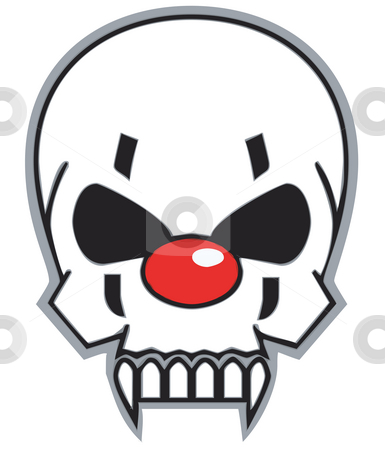 Clown skull stock photo, Evil clown skull by J?