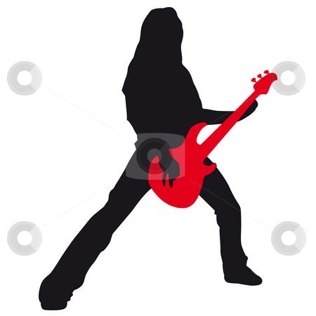 Guitar hero stock photo, Guitar player by J?