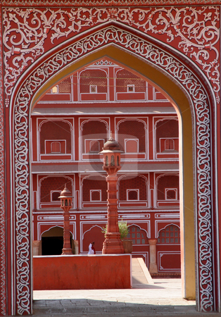 Red Fort Agora India stock photo, Entrance Gate to Red Fort, Agora, India by William Perry