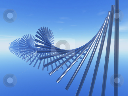 Spiral stock photo, Abstract blue spiral in the sky by J?