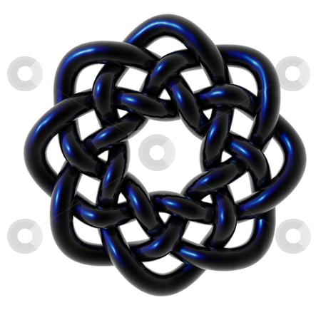 Celtic knots stock photo, Celtic knots design on white background - 3d illustration by J?
