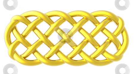 Celtic knots stock photo, Golden celtic knots on white background by J?