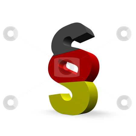 German law stock photo, Paragraph symbol in german colors by J?