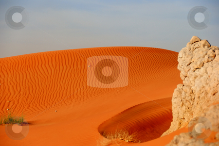 Sunset in the desert stock photo, Desert just few minutes before the sunset by Roman Kalashnikov