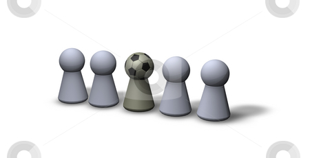 Soccer head stock photo, Play figures - one with soccerhead by J?