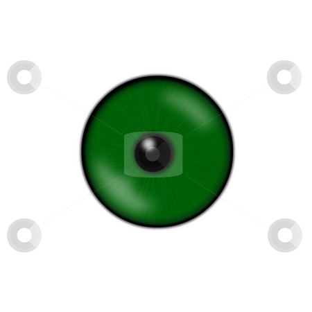 Eye stock photo, Green eyeball isolated on a white background by J?