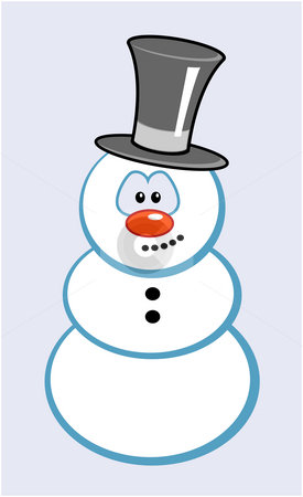 Snowman stock photo, Snowman with comic face by J?