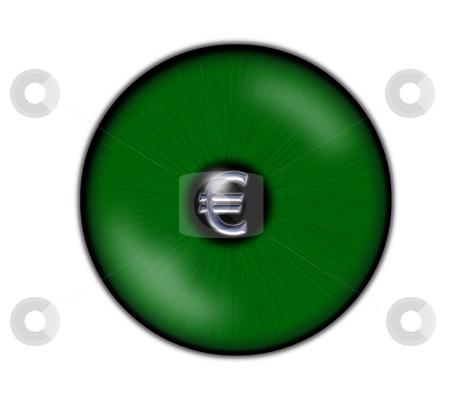 Euro eye stock photo, Green eyeball with  euro symbol by J?