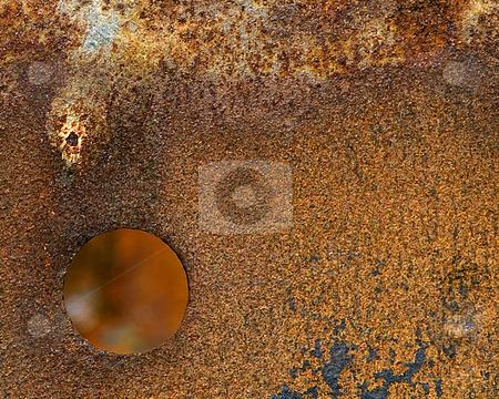 Rusty Steel Barrel stock photo,  by W. Paul Thomas