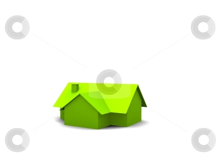 House stock photo, A 3d maded house on a white screen by Jan Schering