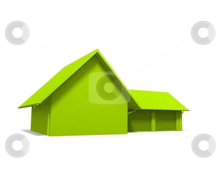 Immobilien stock photo, Ein haus auf Wei?en hintergrund (die Farbe l?sst sich in PS schnell wechseln) by Jan Schering
