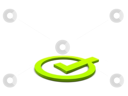 Symbol stock photo, A abstract symbol on a white screen by Jan Schering