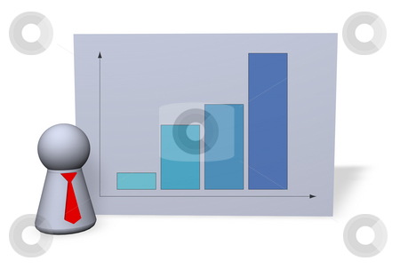 Success stock photo, Statistics board and play figure with red tie by J?