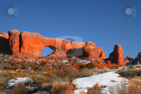 Window arch stock photo, Window Arch in Aeches National Monument by Mark Smith