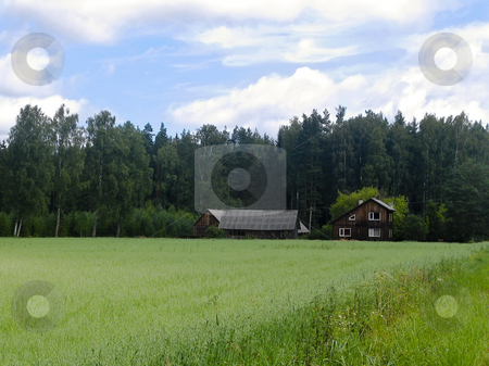 A farm in the country stock photo, A little farm in the Estonian countryside near the wood by Alessandro Rizzolli