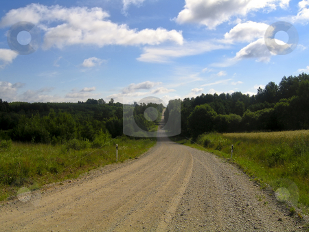 Estonian road in the countryside stock photo, Dusty road in the Estonian countryside by Alessandro Rizzolli