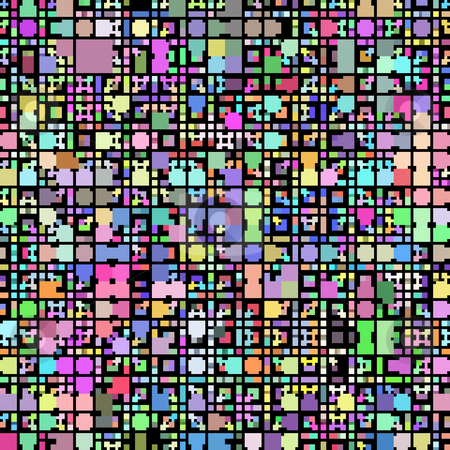 Retro block pattern stock photo, texture of vibrant colorful blocks and squares by Wino Evertz