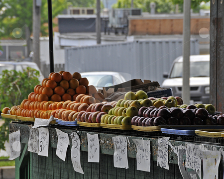 Farmers Market_1 stock photo, An open air farmers market in the city. by W. Paul Thomas